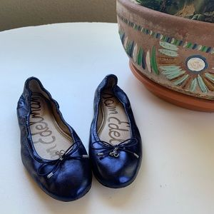 Sam Edelman Felicia blue metallic ballet flats